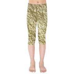Crumpled Foil 17c Kids  Capri Leggings