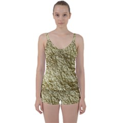 Crumpled Foil 17c Tie Front Two Piece Tankini