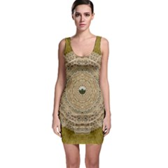 Golden Forest Silver Tree In Wood Mandala Bodycon Dress