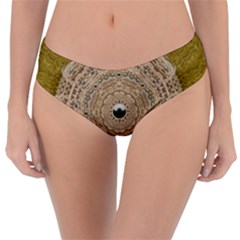 Golden Forest Silver Tree In Wood Mandala Reversible Classic Bikini Bottoms