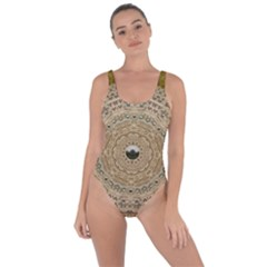 Golden Forest Silver Tree In Wood Mandala Bring Sexy Back Swimsuit