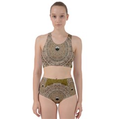 Golden Forest Silver Tree In Wood Mandala Bikini Swimsuit Spa Swimsuit