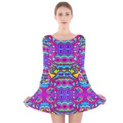 Donovan Long Sleeve Velvet Skater Dress