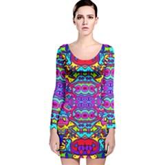 Donovan Long Sleeve Velvet Bodycon Dress