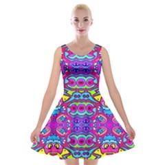 Donovan Velvet Skater Dress