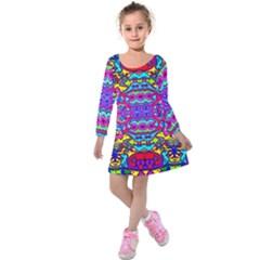 Donovan Kids  Long Sleeve Velvet Dress