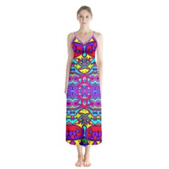 Donovan Button Up Chiffon Maxi Dress