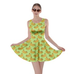 Green And Yellow Banana Bunch Pattern Skater Dress