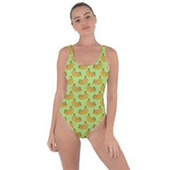 Green And Yellow Banana Bunch Pattern Bring Sexy Back Swimsuit
