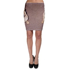 2 Tan Shar Pei Puppies Bodycon Skirt