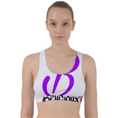 Belicious World  b  Blue Back Weave Sports Bra