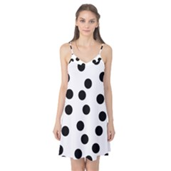 Black And White Dalmatian Spot Pattern Camis Nightgown