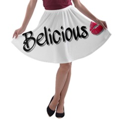Belicious World Logo A Line Skater Skirt
