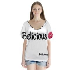 Belicious World Logo Flutter Sleeve Top