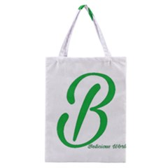 Belicious World  b  In Green Classic Tote Bag