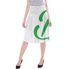 Belicious World  b  In Green Midi Beach Skirt
