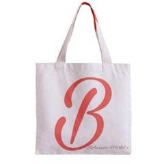 Belicious World  b  In Coral Zipper Grocery Tote Bag