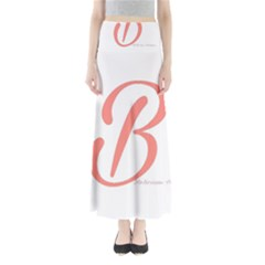 Belicious World  b  In Coral Full Length Maxi Skirt