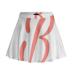 Belicious World  b  In Coral Mini Flare Skirt