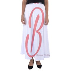 Belicious World  b  In Coral Flared Maxi Skirt
