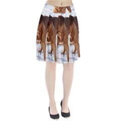 Dogue De Bordeaux In Snow Pleated Skirt