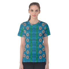 Wood Silver And Rainbows Women s Cotton Tee