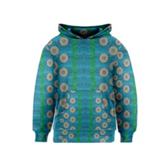 Wood Silver And Rainbows Kids  Pullover Hoodie