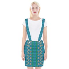 Wood Silver And Rainbows Braces Suspender Skirt