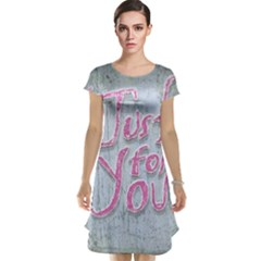 Letters Quotes Grunge Style Design Cap Sleeve Nightdress
