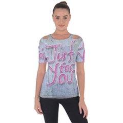 Letters Quotes Grunge Style Design Short Sleeve Top