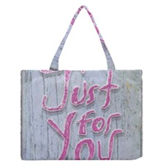 Letters Quotes Grunge Style Design Medium Zipper Tote Bag