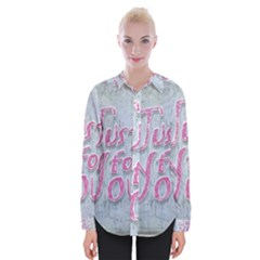 Letters Quotes Grunge Style Design Womens Long Sleeve Shirt