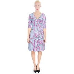 Letters Quotes Grunge Style Design Wrap Up Cocktail Dress