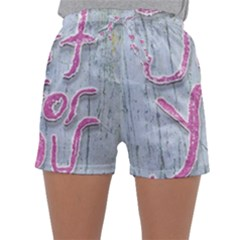 Letters Quotes Grunge Style Design Sleepwear Shorts