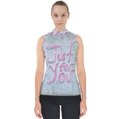 Letters Quotes Grunge Style Design Shell Top