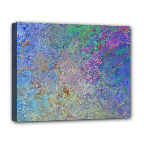 Colorful Pattern Blue And Purple Colormix Deluxe Canvas 20  X 16