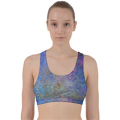 Colorful Pattern Blue And Purple Colormix Back Weave Sports Bra
