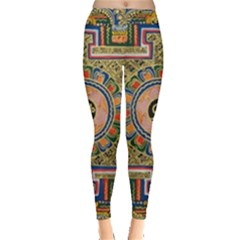 Asian Art Mandala Colorful Tibet Pattern Leggings