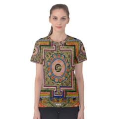 Asian Art Mandala Colorful Tibet Pattern Women s Cotton Tee