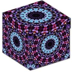 Kaleidoscope Mandala Purple Pattern Art Storage Stool 12
