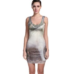 Great Pyrenees In Forest Bodycon Dress
