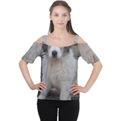 Great Pyrenees Puppy Cutout Shoulder Tee