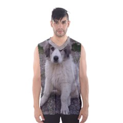 Great Pyrenees Puppy Men s Basketball Tank Top
