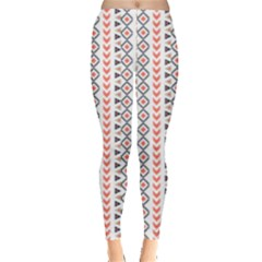 Pink & Purple Tribal & Mandala Pattern Leggings