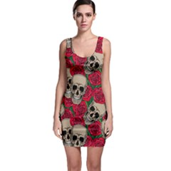 Red Florals Horror Bodycon Dress