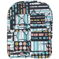 Distressed Pattern Full Print Backpack