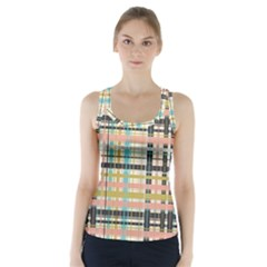 Plaid Pattern Racer Back Sports Top