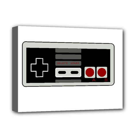 Video Game Controller 80s Deluxe Canvas 16  X 12