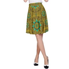 Sunshine And Flowers In Life Pop Art A Line Skirt