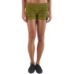 Sunshine And Flowers In Life Pop Art Yoga Shorts